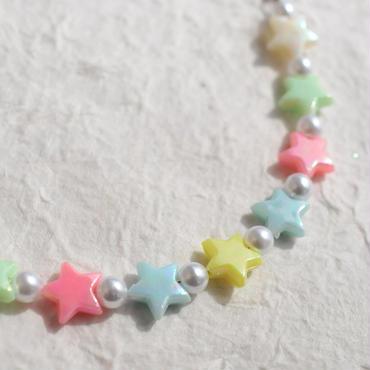 オーロラパールの羽織紐(星)