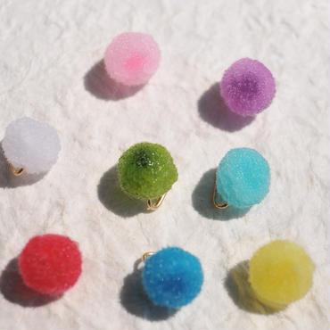 ポンポン氷菓の一粒帯留