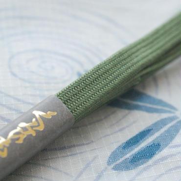 【新品】正絹三分紐(抹茶)