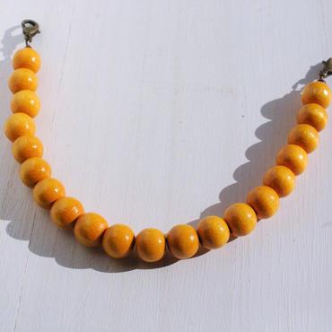 【男性】ウッドビーズの羽織紐(カラシ)