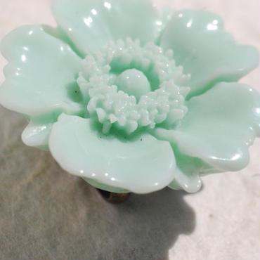 お花の帯留(ミントグリーン)
