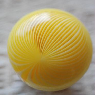 和飴の帯留(黄色)