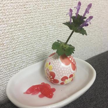 【送料0】金魚が泳ぐミニチュア水盤セット