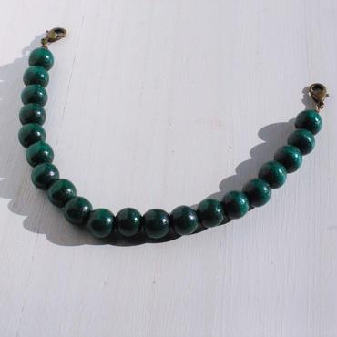 【男性】ウッドビーズの羽織紐(緑)