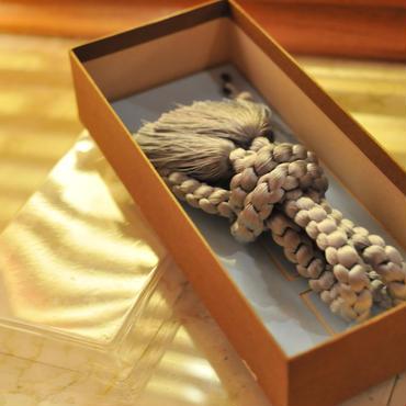 【新古品】【未使用】丸組の羽織紐 うぐいす色