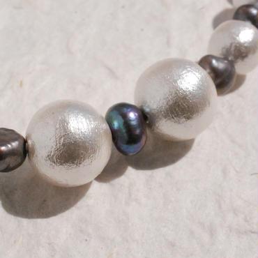 淡水パールとコットンパールの羽織紐