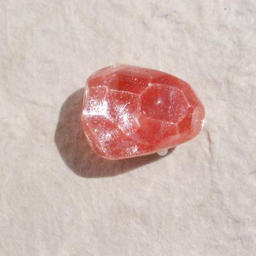 氷石の帯留(赤)