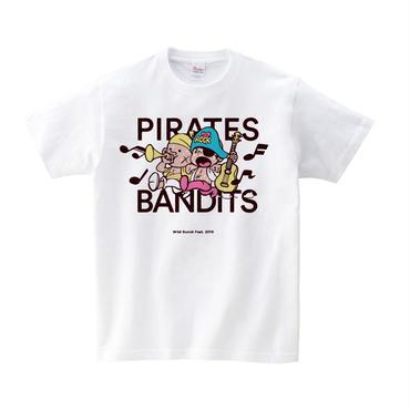 PIRATES×BANDITS Tシャツ 【ホワイト/ブラック】