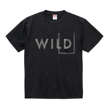 シームテープポケット Tシャツ 【クラック/ゼブラ/ホワイト×ブラック】