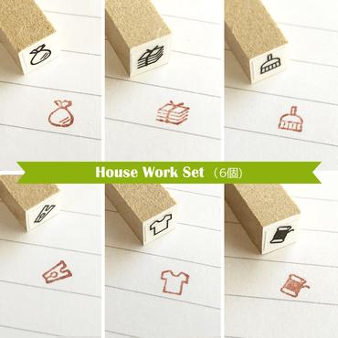 Miniミニスタンプ【6個入】House Work Set