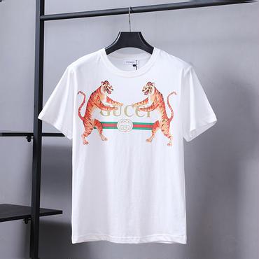 gucciシリーズ Tシャツ レディース メンズ カットソー 夏ウェア 半袖 tee クルーネック クラシック プリント ユニセックス