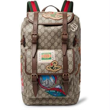 グッチ GUCCI バックパック リュックサック リュックバッグ 刺繍 クーリエ アップリケ 大容量 通勤 通学 出張 旅行鞄