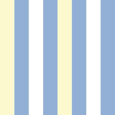 【切り売り:1m単位で販売】  STRIPE(ブルー&イエロー) EASY2WALL by WhO