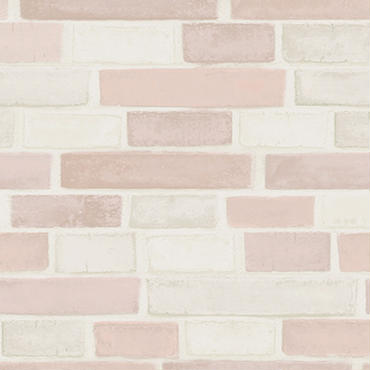 【切り売り:1m単位で販売】  BRICK(PINK) EASY2WaLL by WhO