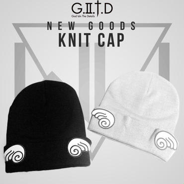 "Knit cap ""Be An Angel"" grey or black"