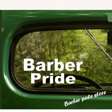 Barber Pride sticker