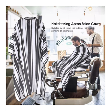 Thick stripes  Waterproof Hair Dyeing Cape