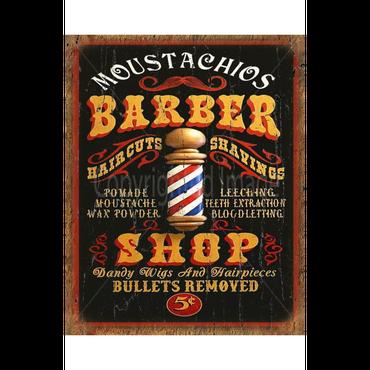 Barber   Shop Metal Sign