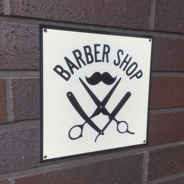 BARBER SHOP metal sign