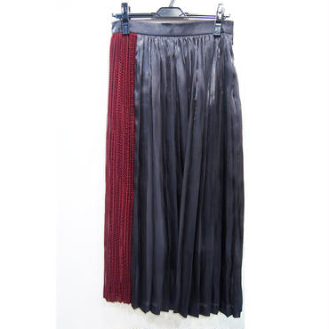 IN-PROCESS BY HALL OHARA PLEATED MAXI SKIRT プリーツマキシムスカート