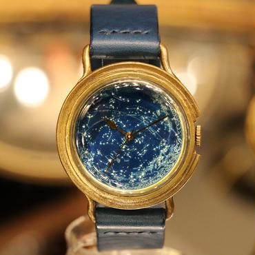 GENSO 天体観測 星空の腕時計 蓄光文字盤