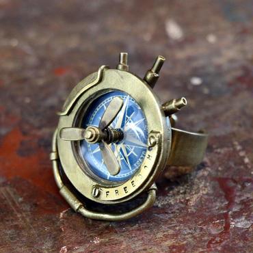 空船の指時計 スカイシップリングウォッチ Mサイズ ブルー