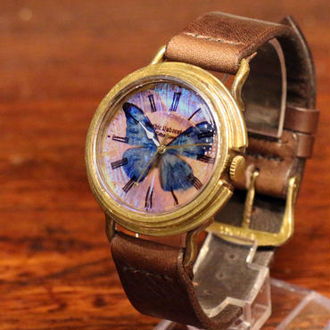 本物のモルフォ蝶の翅を文字盤にした腕時計 Sランク