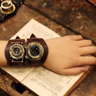 スチームパンク腕時計 MEMORIES dual time 2017 Y型 カメラレンスの腕時計 デュアルタイム