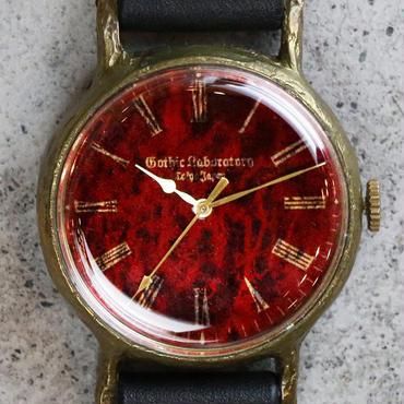アンティークな腕時計 Classic Wristwatch blood 赤文字盤