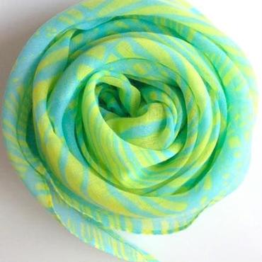 やわらかコットンスカーフ水色+レモン色 トルコ skyblue+yellow soft scarf turkey sf-0003
