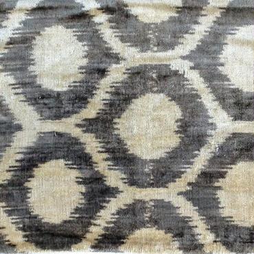 クッションカバー グレー ウズベキスタン 約38.5 x 48cm ベルベットイカット grey velvet ikat cushion cover uzbekistan vi-0014
