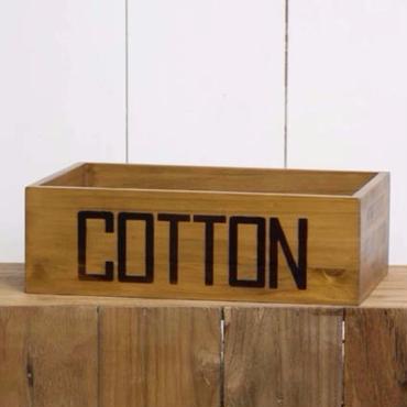 【ウッドボックス】コットンBOX