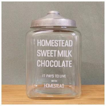 【ガラス容器】カフェ GLASS JAR MILK CHOCOLATE