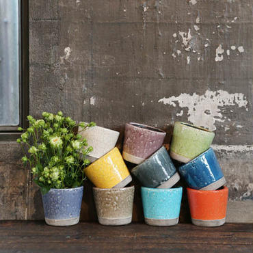 DULTON COLOR GLAZED POT