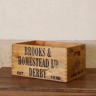 【ウッドボックス】大きな焼印ロゴBOX