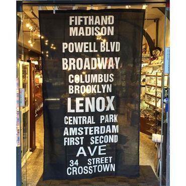 NY subway logo カーテン