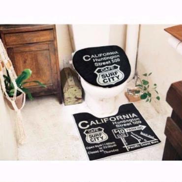 トイレマット&カバーセット 【CALIFORNIA】 洗浄機能付きタイプ