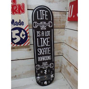 オールドルッククロック スケートボード ブラック