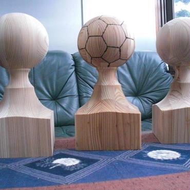 サッカーボール オブジェ 純国産杉謹製 オーダーメード品
