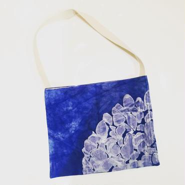 手染め藍染め帆布の紫陽花かばん