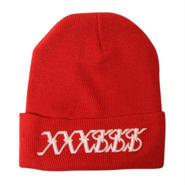 XXXSSS Tokyo  knit cap  (Red X White)