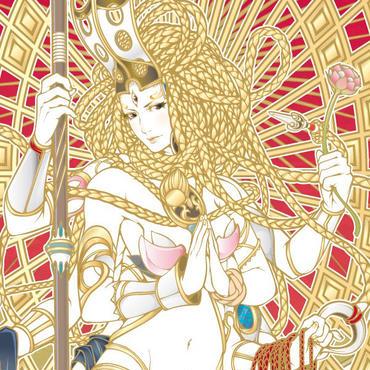 不空羂索観音現代仏画ミニ掛け軸