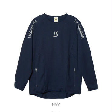 LUZ e SOMBRA HYBRID SWEAT CREWNECK TOP【NVY】