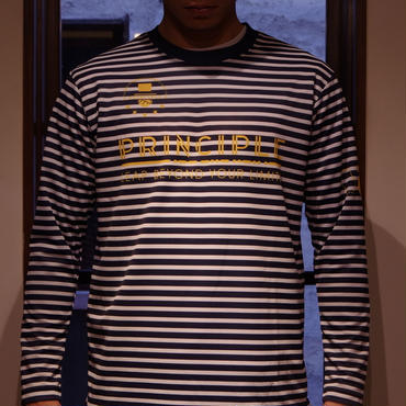 PRINCIPLE Long Sleeve Pra shirt(NVY X WHT)