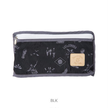LUZ e SOMBRA ICONS GRAFFITI PORTABLE MINI POUCH【BLK】