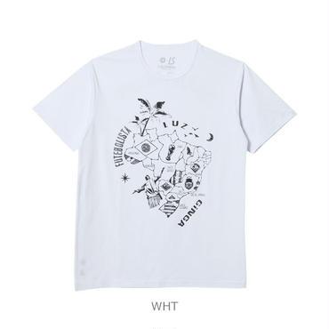 LUZ e SOMBRA B-MAP PATTERN T-SHIRT【WHT】