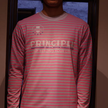 PRINCIPLE Long Sleeve Pra-Shirt [PNK×GRY]