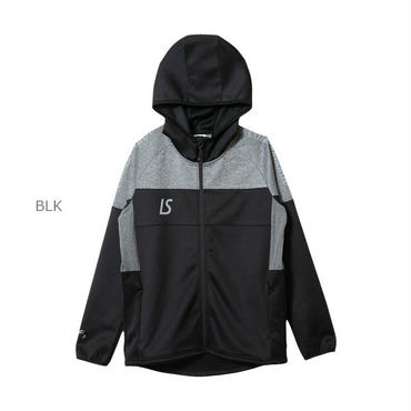 LUZ e SOMBRA SINGLE FACE JERSEY HOODIE FULLZIP JACKET【BLK】