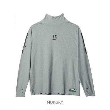 LUZ e SOMBRA  SUPERFLY HIGHNECK LONG PRA-SHIRT【MOKGRY】