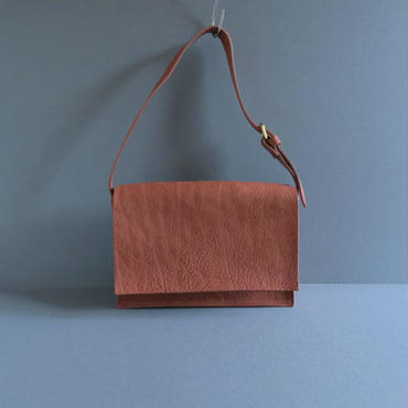 one handle flap bag (brown)